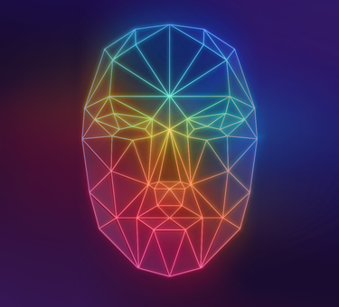 facial recognition graphic